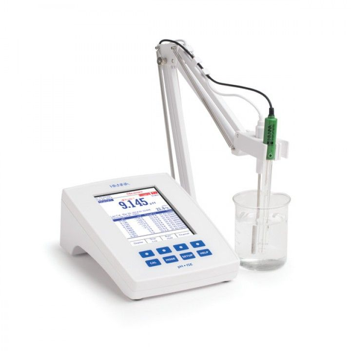 HI5222 RESEARCH GRADE ISE/pH/ORP/°C - 2 Channel-Meter Benchtop