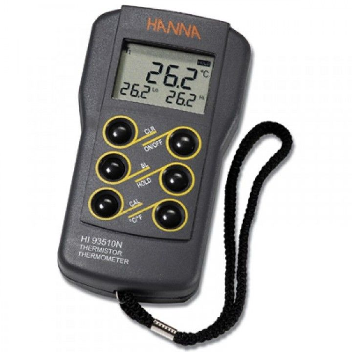 HI93510N 1-Channel Thermistor Thermometer with Cal Feature