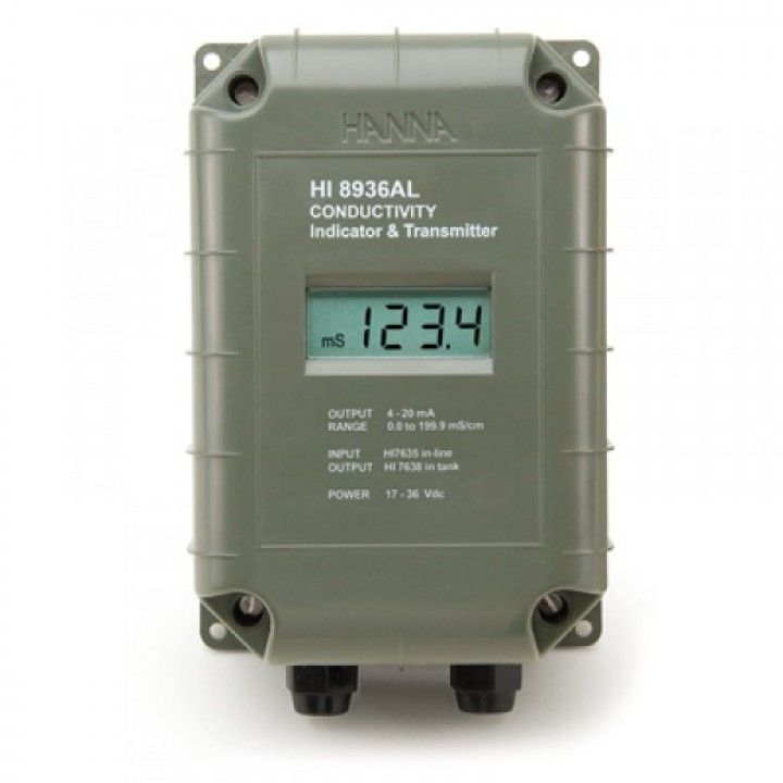 HI8936ALN EC - Transmitter with LCD - 0 to 199.9 mS/cm