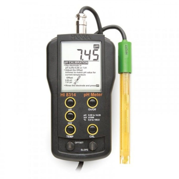 HI8314 pH/mV/°C Meter- DIN type - custom calibration