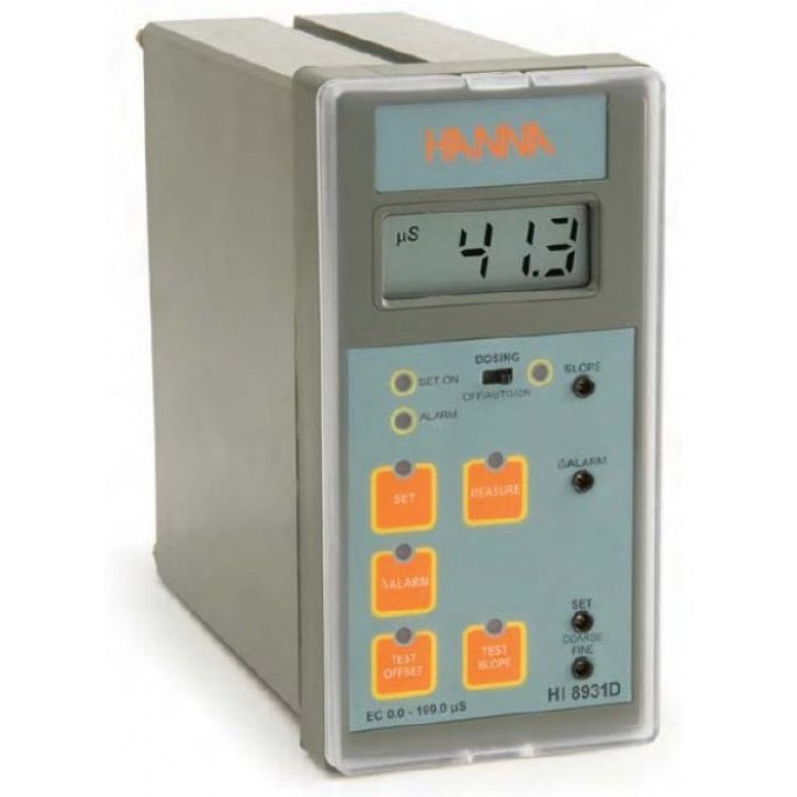 HI8931AN Conductivity Controller (0.1mS/cm resolution) with Input from Probe or Transmitter