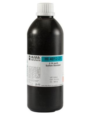 HI4012-21 ISE 0.1M Sulfate Std , 500 ml Bottle