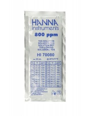 HI70080P - 800 mg/l (ppm) TDS@25°C - 25x20ml