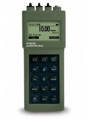 HI98185 pH / ORP / ISE / °C Meter + PC Interface, Waterproof