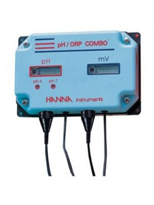 HI981406 pH/mV-Indicator with LED-Alarm COMBO