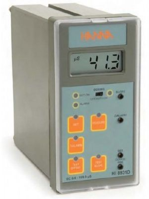 HI8931DN Conductivity Controller (0.1 uS/cm resolution) with Input from Probe or Transmitter