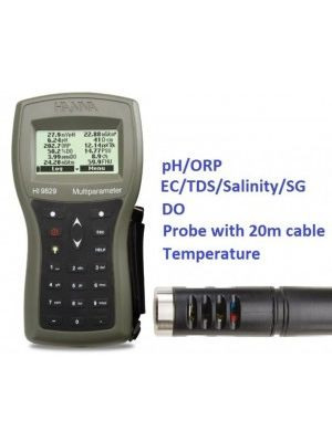 HI9829-00202 Multiparameter - pH / ORP / EC / TDS / Salinity / DO / Temp - 20m Cable Complete Set