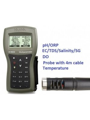 HI9829-00042 Multiparameter - pH / ORP / EC / TDS / Salinity / DO / Temp - 4m Cable Complete Set